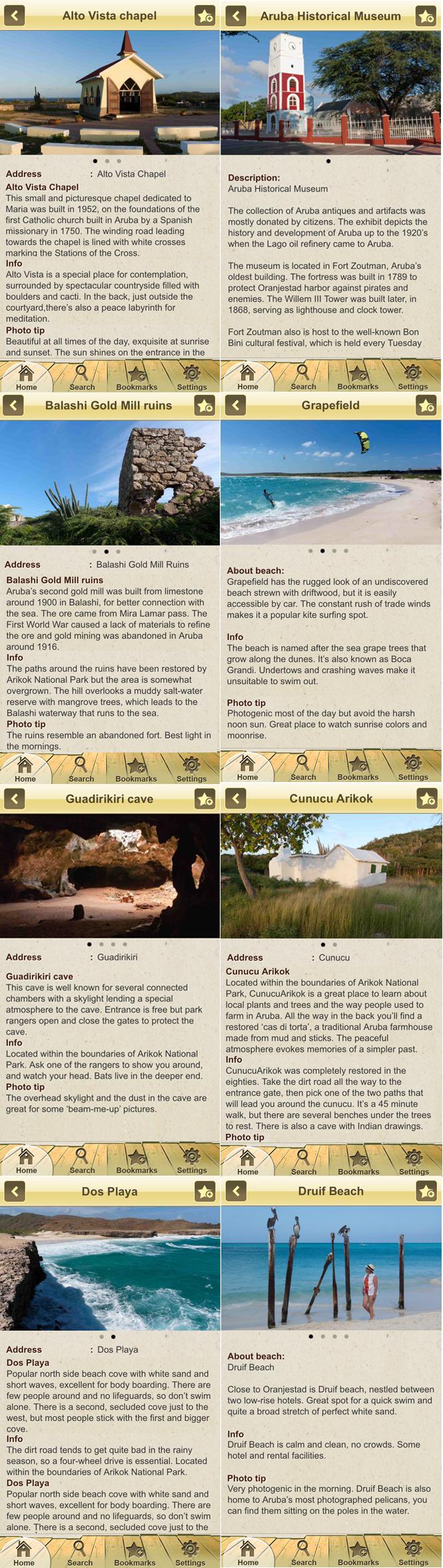 Voorbeeden van content Aruba eGuide