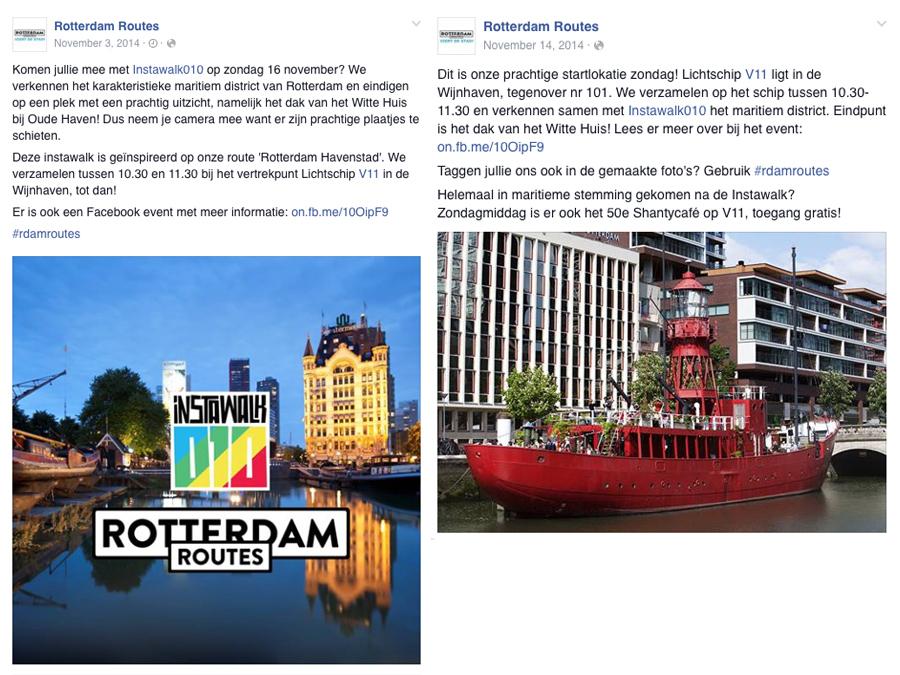Facebook posts Rotterdam Routes