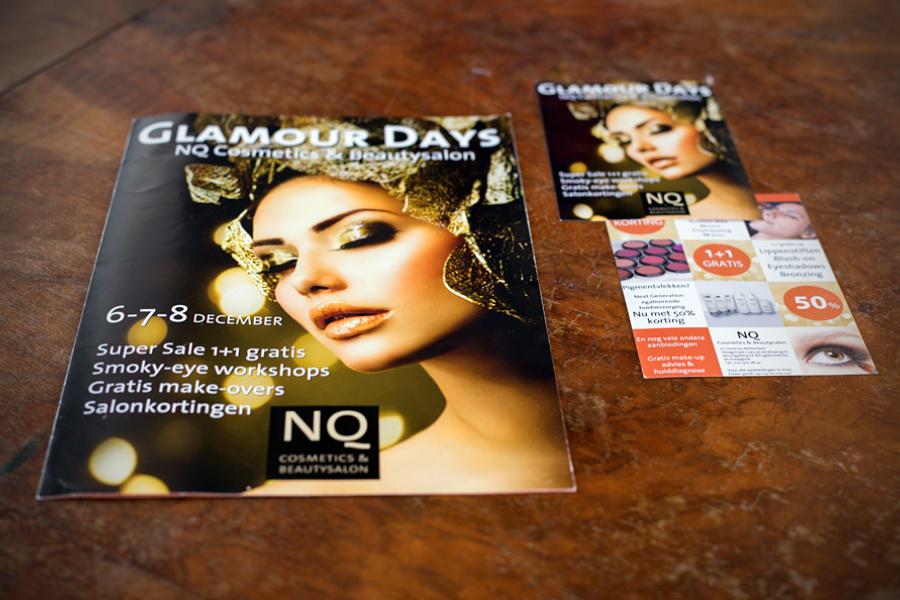Glamour Days Nubian queen flyer en brochure