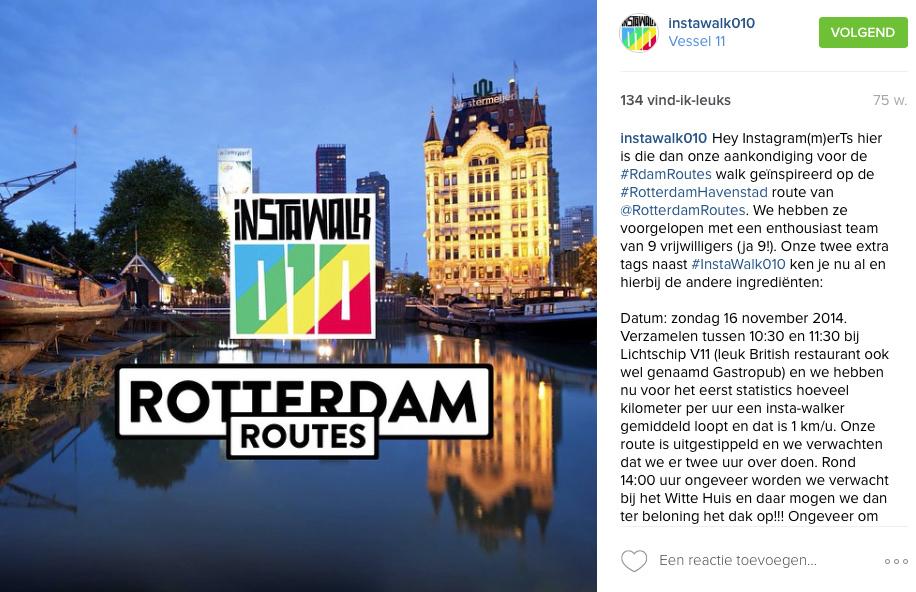 Instawalk010 post Rotterdam Routes